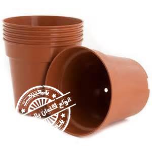 گلدان پلاستیکی قهوه ای