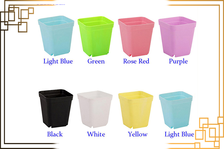 گلدان پلاستیکی یو وی